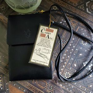 NWT Michael Stevens black leather Carry All